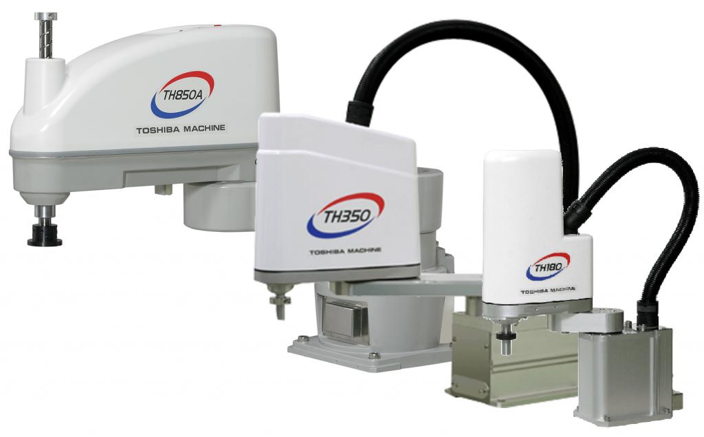 Toshiba Machine TH650A SCARA, robot przemysłowy do pakowania żywności